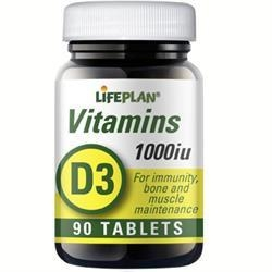 Vitaminas D3 1000TV N90