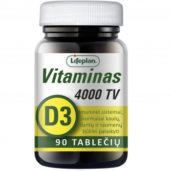 Vitaminas D3 4000TV N90